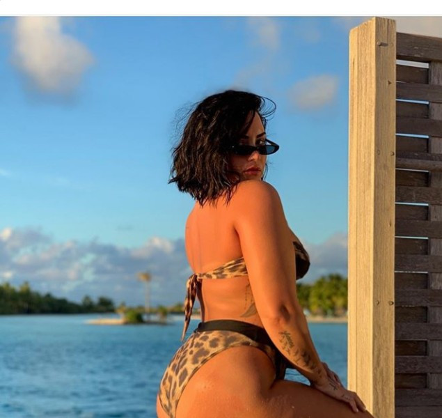 """Tired of being ashamed of my body"" Demi Lovato says as she shares unedited bikini photo with her cellulite on display"