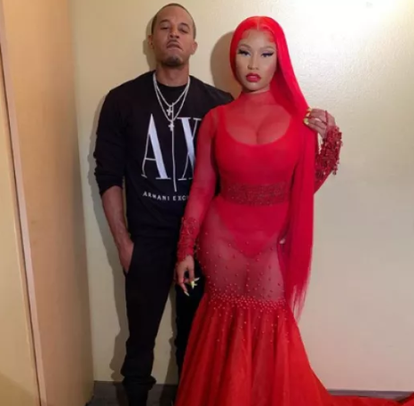 Photoshopped image of Michelle and Barack Obama as Nicki Minaj and her boyfriend
