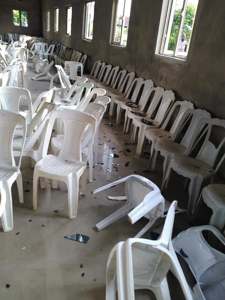 Masquerades invade Church in Akwa Ibom, destroy properties, beat up parishioners after pastor preached against their violent activities