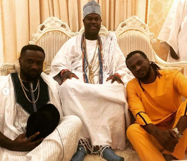 Photos: Paul and Jude Okoye pay courtesy visit to Ooni of Ife