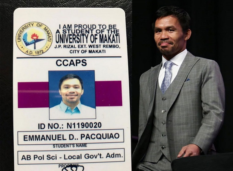 Filipino boxer and serving senator, Manny Pacquiao goes back to school