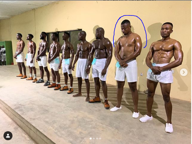 Lol, Corpers with 'one pack' and 'pot belly' compete for Mr. Macho ...