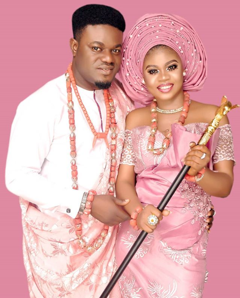 My Flatmates star, MC Pashun holds his traditional wedding with his fiancee, Gift (photos)
