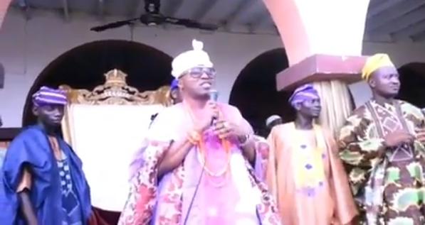 Moment Oluwo of Iwoland stopped rain from falling (video)