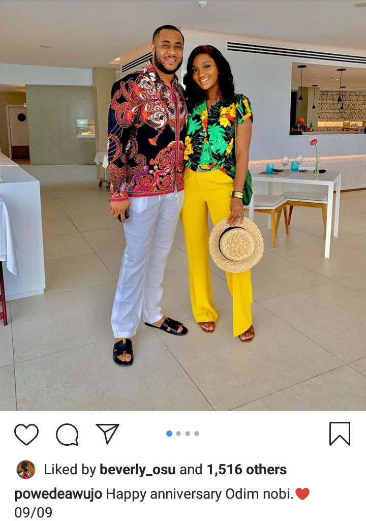 Powede Awujo celebrates her husband on their 2nd wedding anniversary