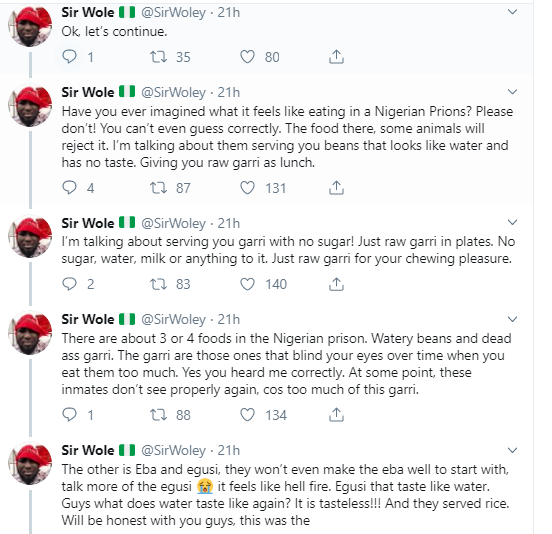 Twitter stories: Man shares his horrifying experience in a Nigerian prison