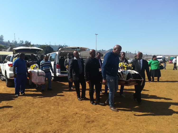 Update: Hundreds of mourners gather for the funeral of four children hanged by their father in South Africa
