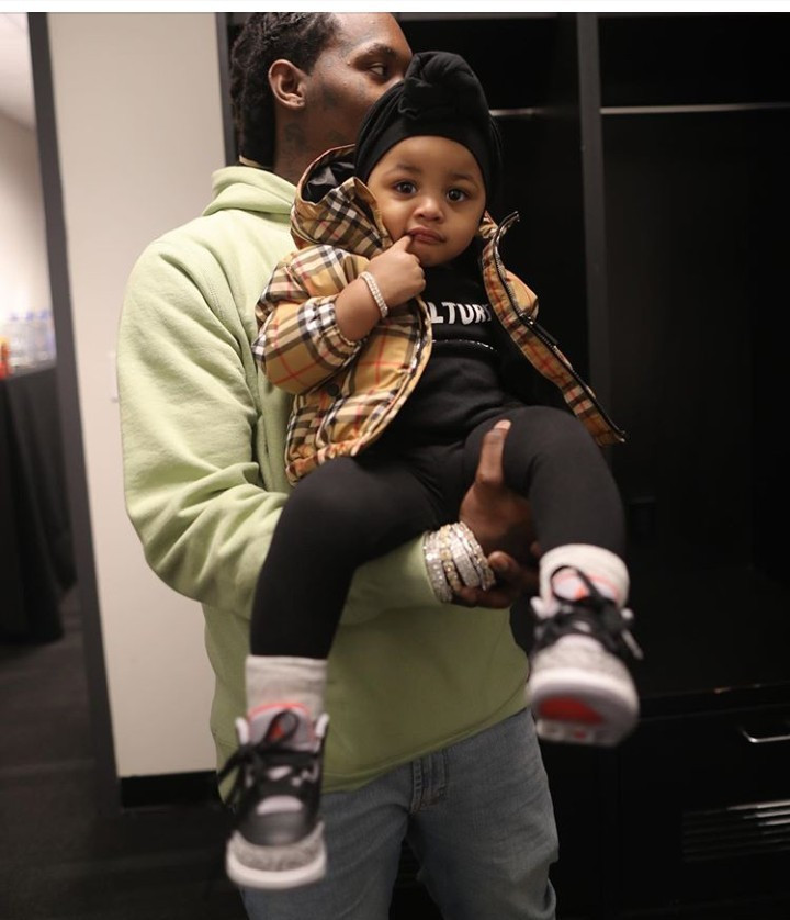 """My hearts"" Cardi B says as she shows off her husband and daughter"