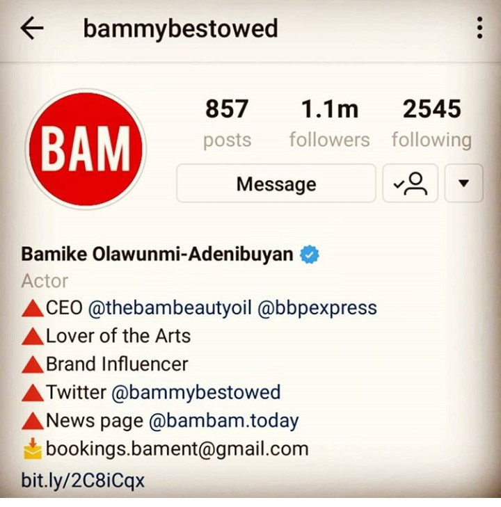 Bam Bam Bam edits her Instagram profile to include Teddy A