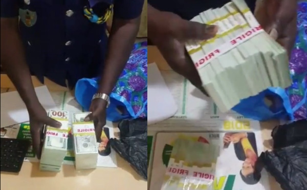 Ghana Police alleges some Nigerians attempted to smuggle in fake dollars into the country (video)