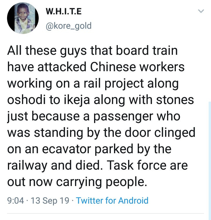 Commotion at Ikeja as men hanging from a moving train fall and die (graphic photo)