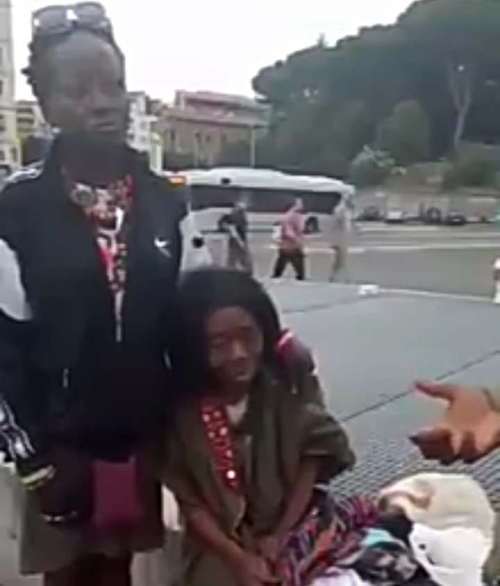 Two homeless Nigerians in Rome, including an elderly mother-of-four, cry for assistance so they can return home (video)