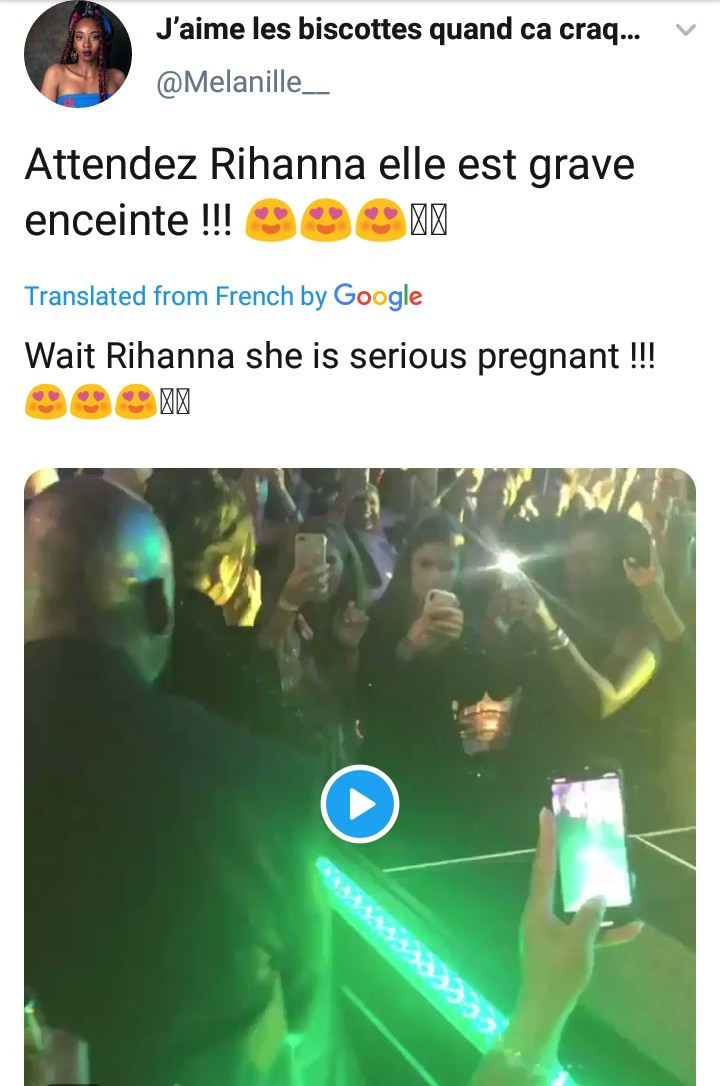 """Rihanna is pregnant"" trends on Twitter as fans notice a bulge in her tummy"