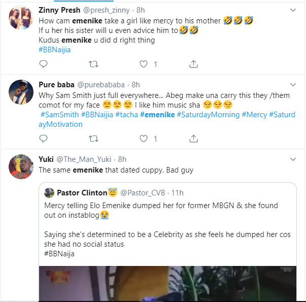 #BBNaija: Here is how Twitter users are reacting to Mercy