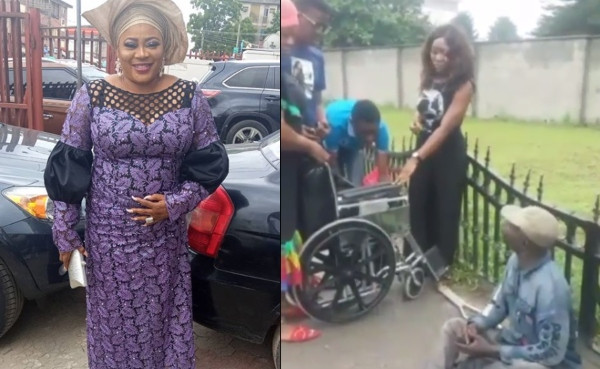 Actress Ayo Adesanya shares encounter with a beggar who asked for a wheelchair (video)