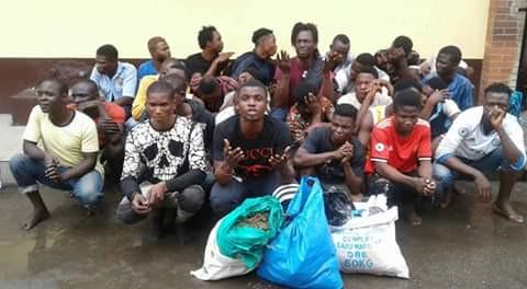 Lagos State Task Force raids surroundings of