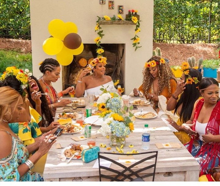 Eva Marcille releases photos from her flower-themed baby shower as she awaits the arrival of her third child