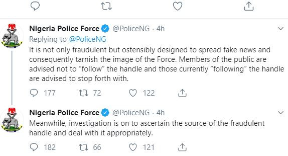 Nigerian Police calls out a