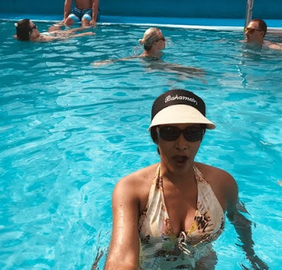 Bianca Ojukwu flaunts her cleavage as she vacations in the Bahamas (photos)