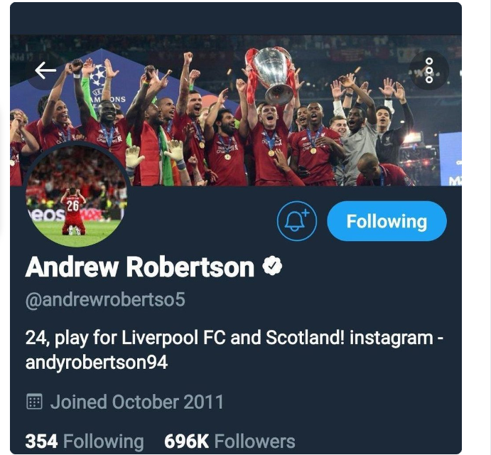 Liverpool defender Andy Robertson deactivates his Twitter account after fans abuse him for causing penalty