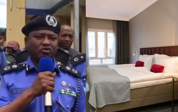 Rivers police arrest suspect who tried to strangle his victim at Port Harcourt hotel (video)