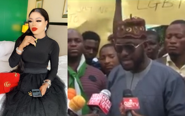 Youths protest against Bobrisky, tells IGP and DSS to stop him