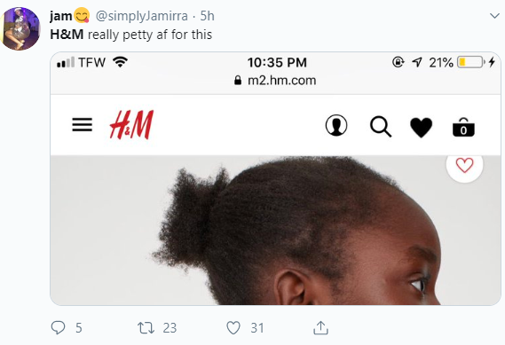 H&M receives heat for not styling the hair of their black child model