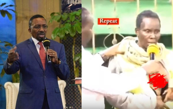 Kenyan Pastor punished by government for exposing breast of woman he claimed he was delivering from cancer on Live TV (video)