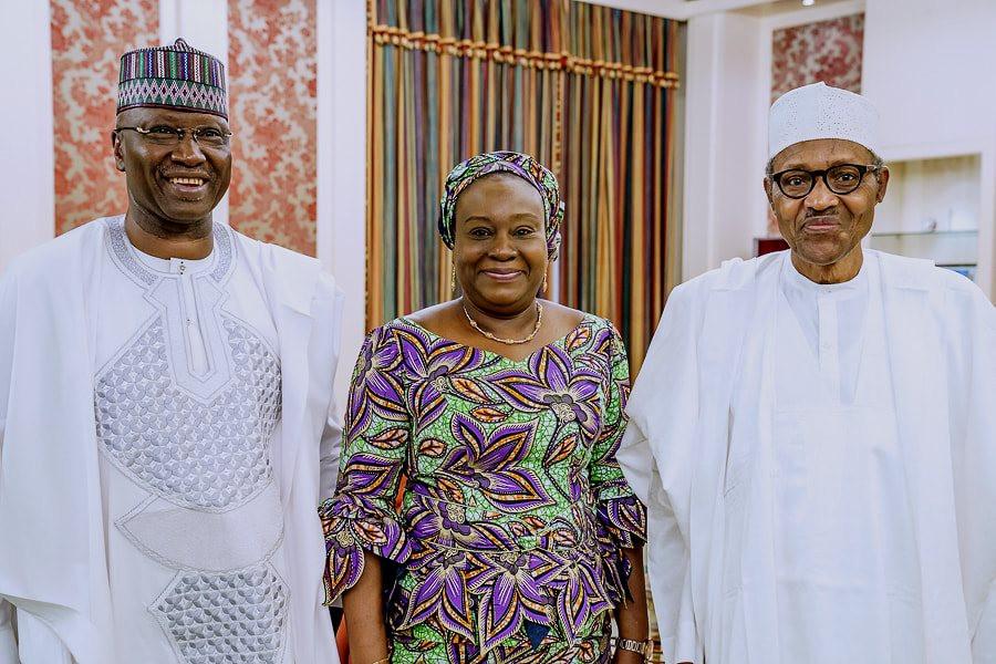Photos: President Buhari meets acting Head of Civil Service, Folashade Yemi-Esan