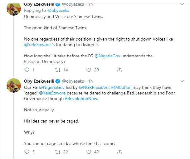 Buhari may think he can cage Sowore ? Oby Ezekwesili