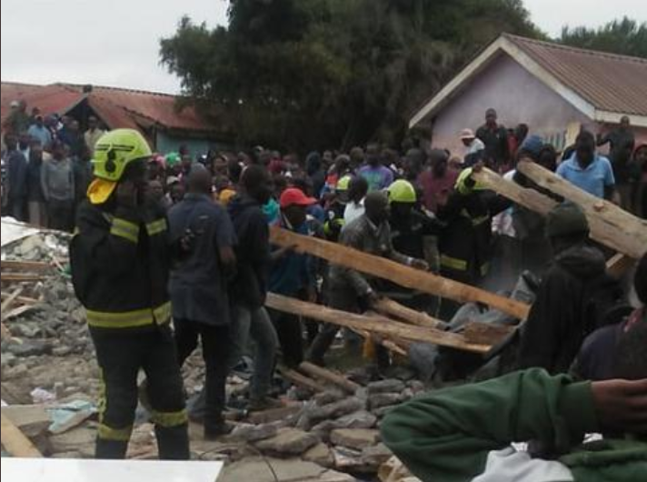Two pupils dead, several trapped after classroom wall collapses in Kenya (Photos)
