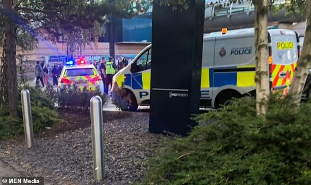 Police arrest naked man after Manchester Airport railway station is evacuated over bomb scare (Photos)