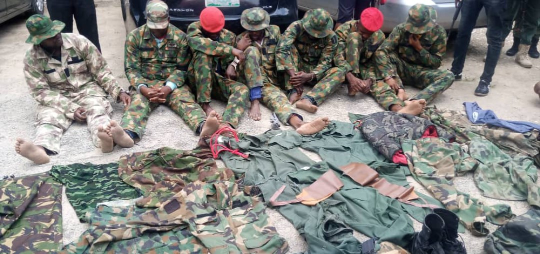 Dismissed soldiers arrested for armed robbery in Lagos