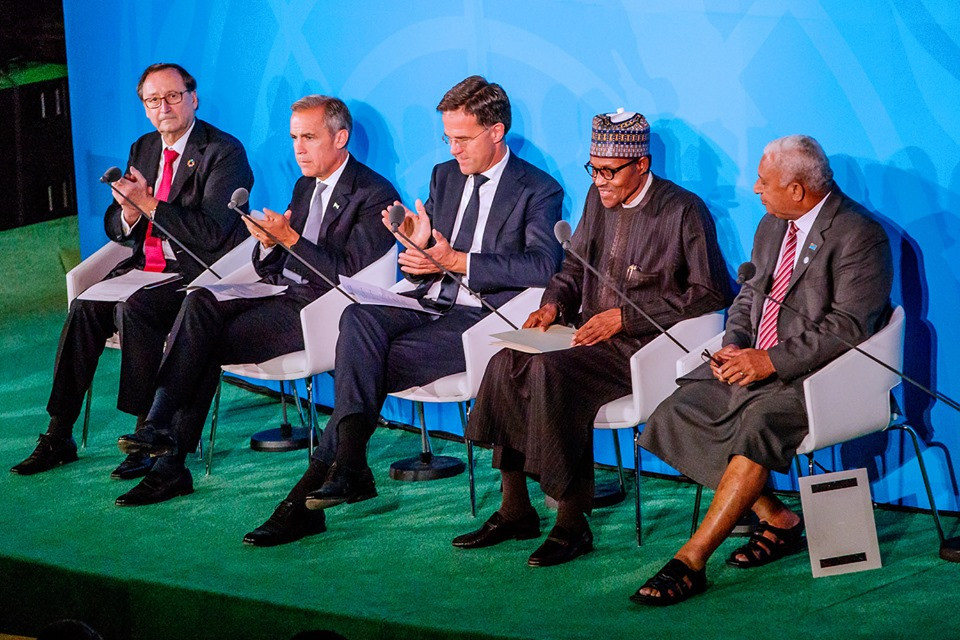 President Buhari speaks at the Climate summit at the UN General Assembly (photos)
