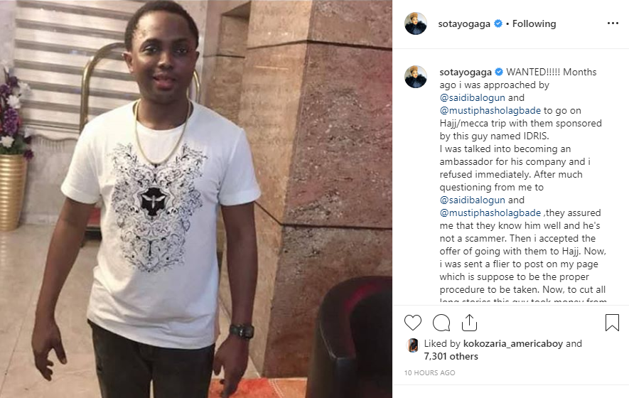 Actress Sotayogaga calls out Saidi Balogun after he introduced her to an alleged scammer who duped her followers