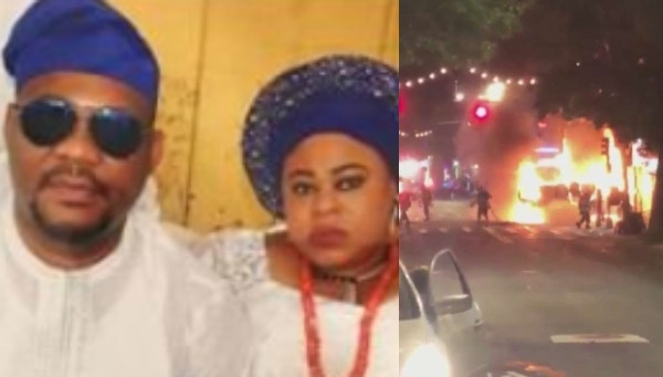 Nigerian man intentionally drives van into residential apartment where his ex-wife lived in the US, causing fire