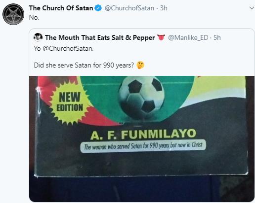 Church of Satan replies Wale Gates