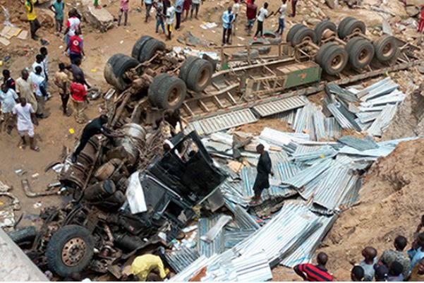 Photo: Fatal?truck accident leaves six people dead in Gombe State