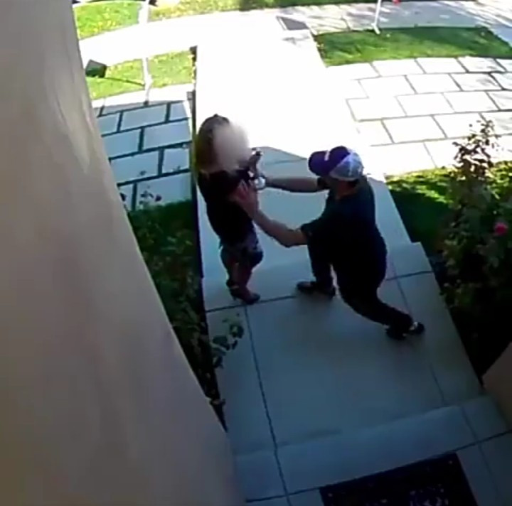 Moment realtor was attacked by a man she was showing a house
