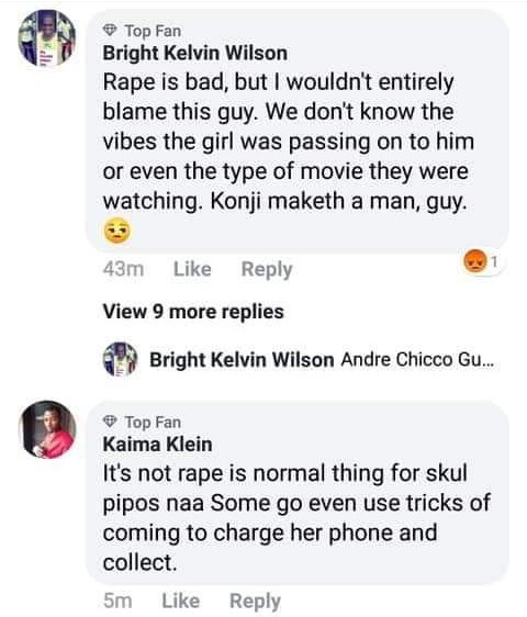 See the shocking way people are reacting to news of a Nigerian student who allegedly raped another student as she watched a movie in his room