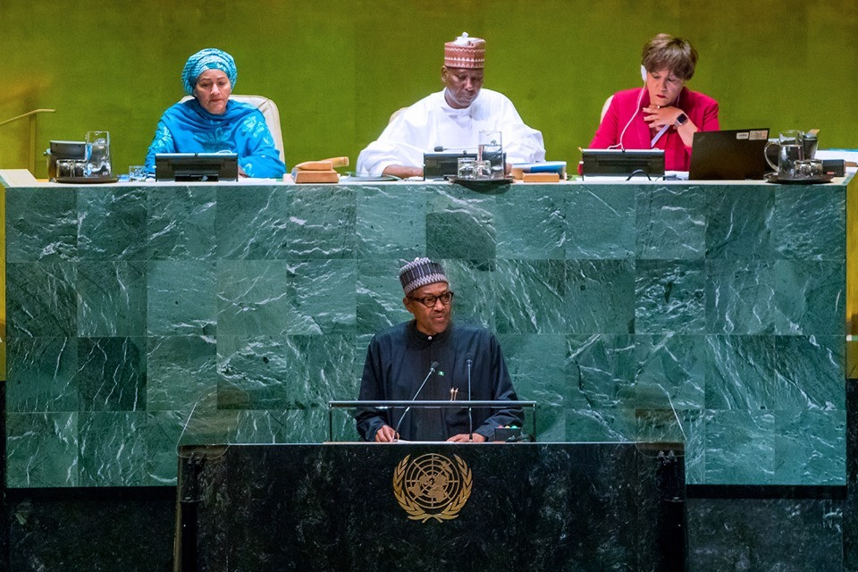 Photos: Foreign criminal gangs are out to dupe Nigeria - President?Buhari tells World leaders