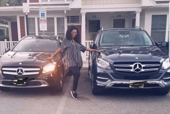Ubi Franklin's 4th babymama, Sandra Iheuwa buys a new car