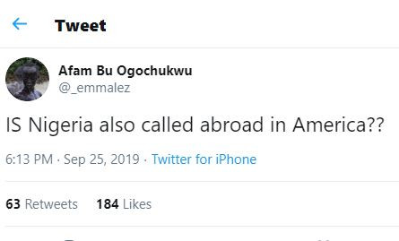 Hilarious question of the day:?Is Nigeria called