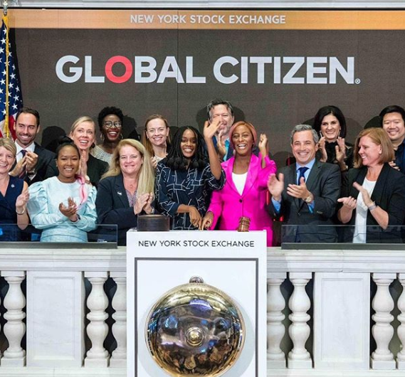 DJ Cuppy rings opening bell at the New York Stock Exchange (video)