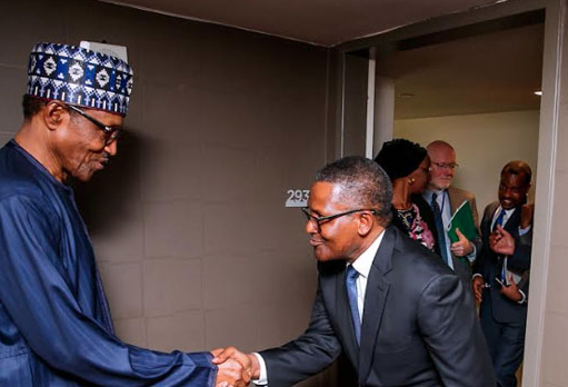 President Buhari Meets Bill Gates, Dangote In New York (Photos)