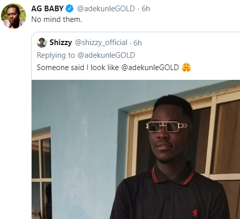 Adekunle Gold delivers a polite savage reply to a fan who claims to look like him