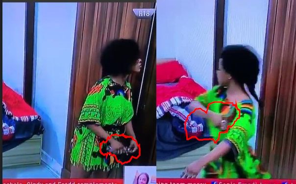 BBNaija: Moment Tacha began spraying perfume on herself after being told she has body odour during face-off with Mercy (Video)