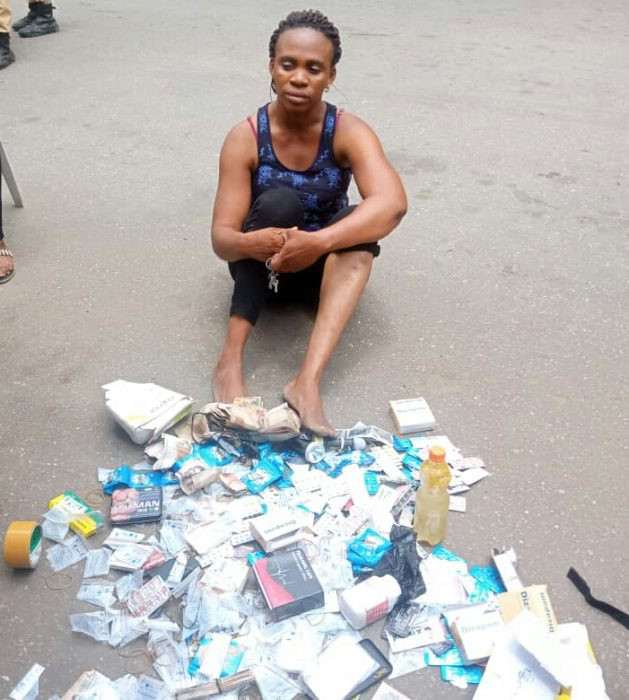 Lagos Task Force arrests prostitutes at Mile 2 brothel (photos)
