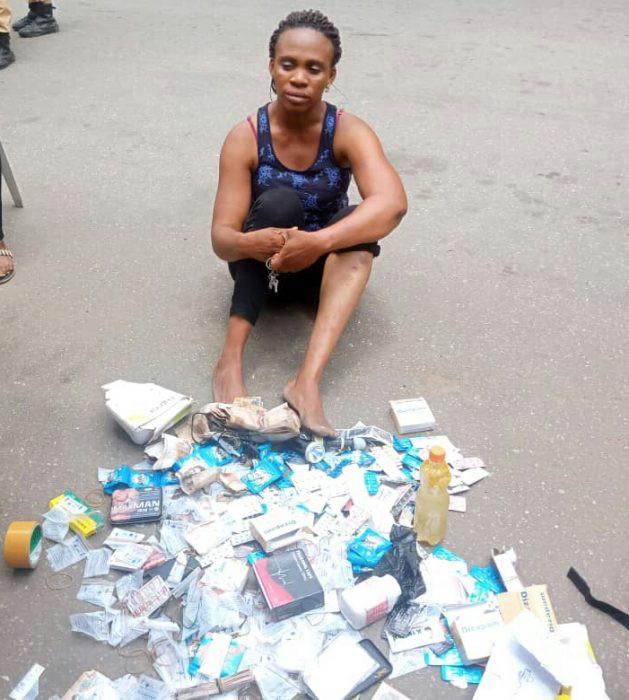 Lagos Task Force arrests prostitutes at Mile 2 brothel (photos)