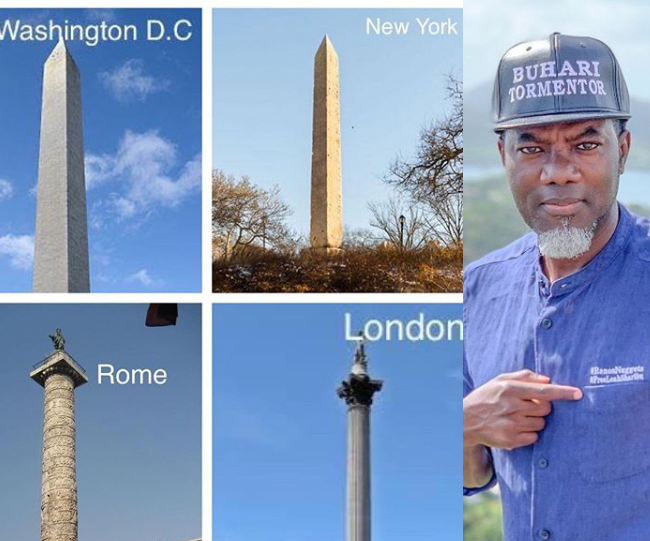 "Reno Omokri claims these monumental structures in Western countries are ""dedicated to satan"" then shares biblical passages to back his claim"